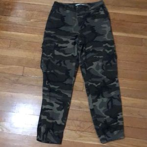 Pants - Army print joggers